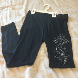 Miss Me Girls size medium black leggings